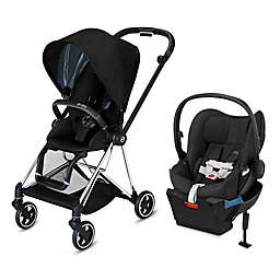 CYBEX Platinum Mios and Cloud Q Travel System in Chrome/Black