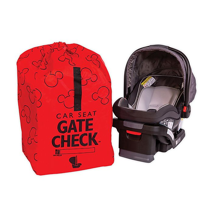 Alternate image 1 for J.L. Childress Disney Baby® Gate Check Travel Bag for Car Seats in Red