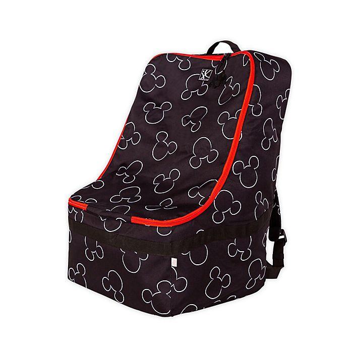 Alternate image 1 for J.L. Childress Disney Baby® Padded Backpack Car Seat Travel Bag in Black