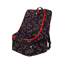 J.L. Childress Disney Baby® Padded Backpack Car Seat Travel Bag in Black