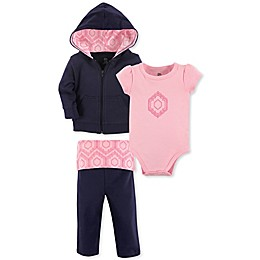 Yoga Sprout 3-Piece Moroccan Jacket, Bodysuit, and Pant Set