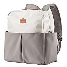 JJ Cole® Popperton Boxy Diaper Backpack in Mushroom Grey