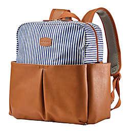 JJ Cole® Popperton Boxy Diaper Backpack in Blue Stripe