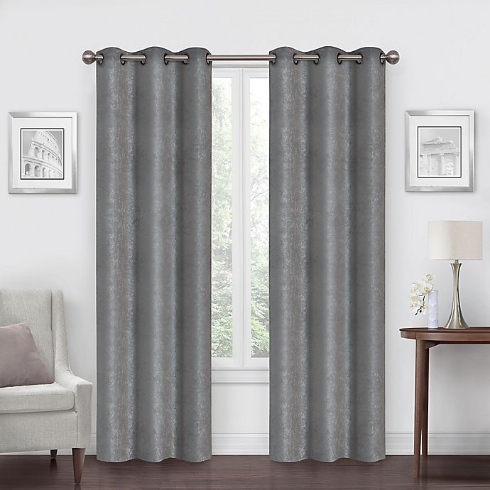 Alternate image 1 for SALT™ Shimmer Grommet Blackout Window Curtain Panels (Set of 2)