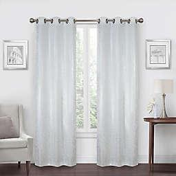 SALT™ Shimmer 2-Pack 108-Inch Grommet 100% Blackout Window Curtain Panels in White