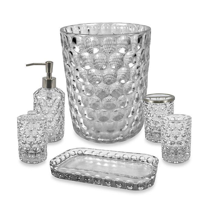 Crystal Ball Glass Bathroom Accessories, Clear Bathroom Accessories