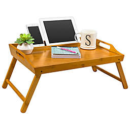 Media Bed Tray Lap Desk, Natural Bamboo