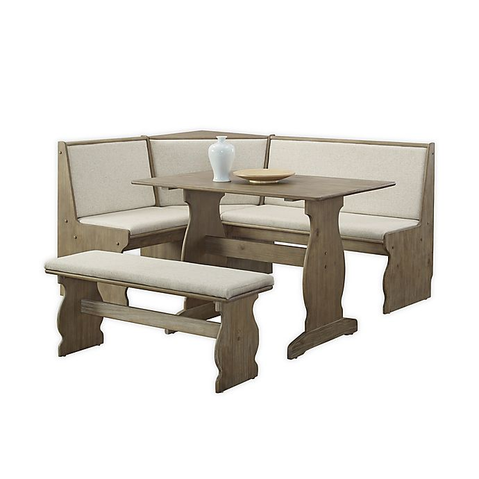 Alternate image 1 for Miriam 3-Piece Dining Nook Set in Natural