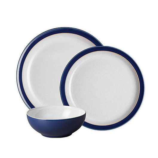 Alternate image 1 for Denby Elements 3-Piece Place Setting in Dark Blue