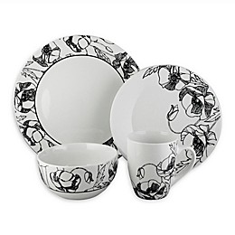 Elle Decor Floral Deco 16-Piece Dinnerware Set