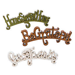 3-Piece Inspirational Words Tabletop Decorations