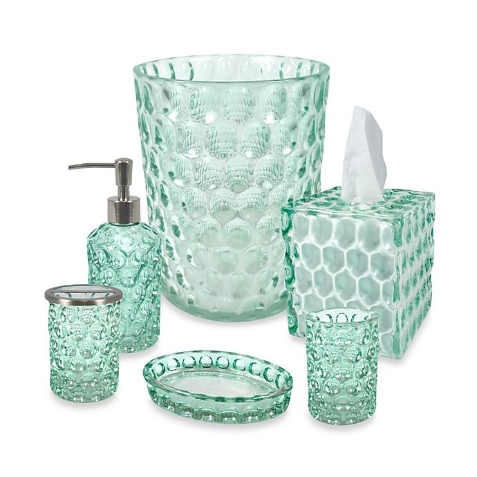 Alternate image 1 for Crystal Ball Glass Bathroom Accessories in Aruba