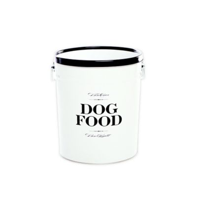 """Harry Barker® """"Bon Chien"""" Small Dog Food Storage Canister in White"""