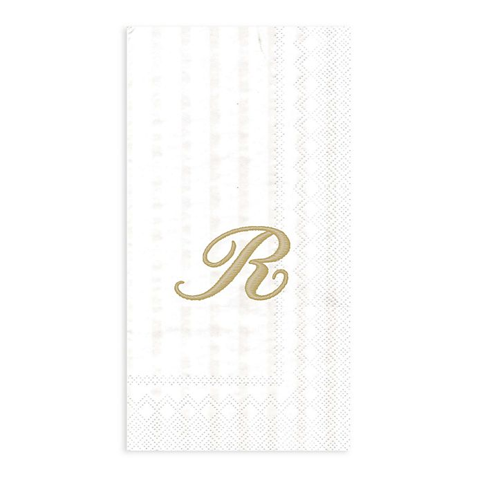"Paper Guest Towels Bathroom: Paper Monogram Letter ""R"" Guest Towels (16-Pack)"