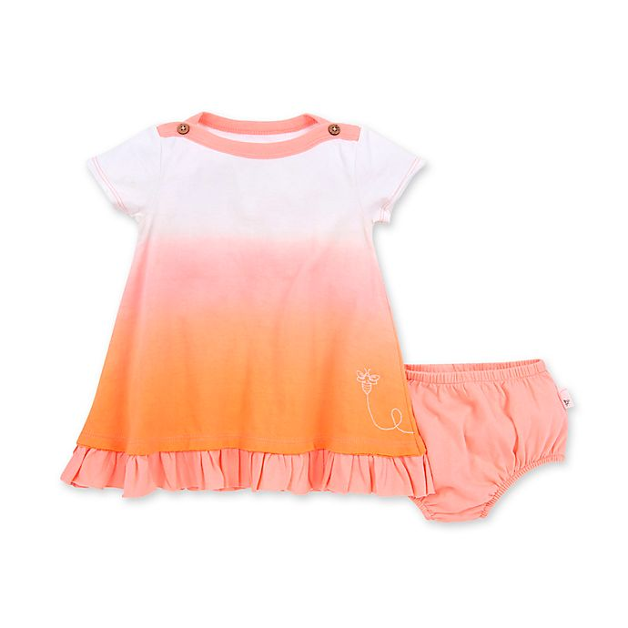 Alternate image 1 for Burt's Bees Baby® Dip Dyed Organic Cotton Dress with Diaper Cover