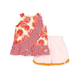 Burt's Bees Baby® 2-Piece Watercolor Grapefruit Organic Cotton Tank and Short Set