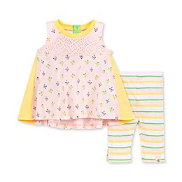 Burt's Bees Baby® 2-Piece You're Grape Organic Cotton Tunic and Legging Set in Dawn