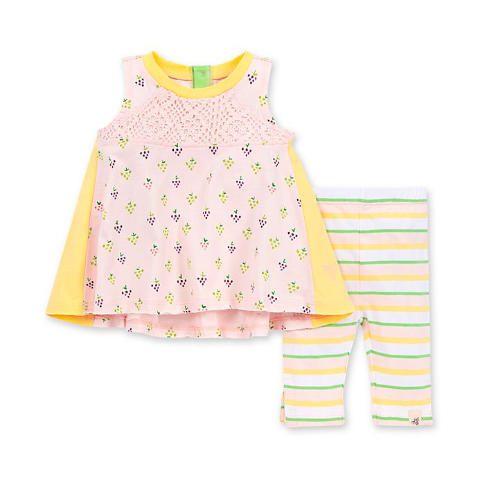 Alternate image 1 for Burt's Bees Baby® 2-Piece You're Grape Organic Cotton Tunic and Legging Set in Dawn