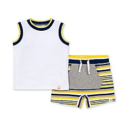 Burt's Bees Baby® 2-Piece Tipped Organic Cotton Tank and Short Set in Lemon