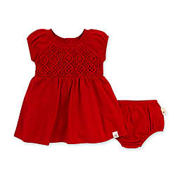 Burt's Bees Baby® Crochet Organic Cotton Dress with Diaper Cover in Cherry