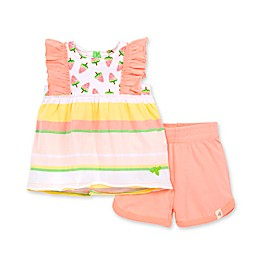 Burt's Bees Baby® 2-Piece Watermelon Popsicles Organic Cotton Tank and Short Set in Peach