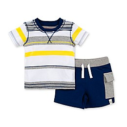 Burt's Bees Baby® 2-Piece Desert Stripe Organic Cotton T-Shirt and Short Set
