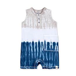 Burt's Bees Baby® Tri Dip Dye Organic Cotton Henley Romper in Ocean