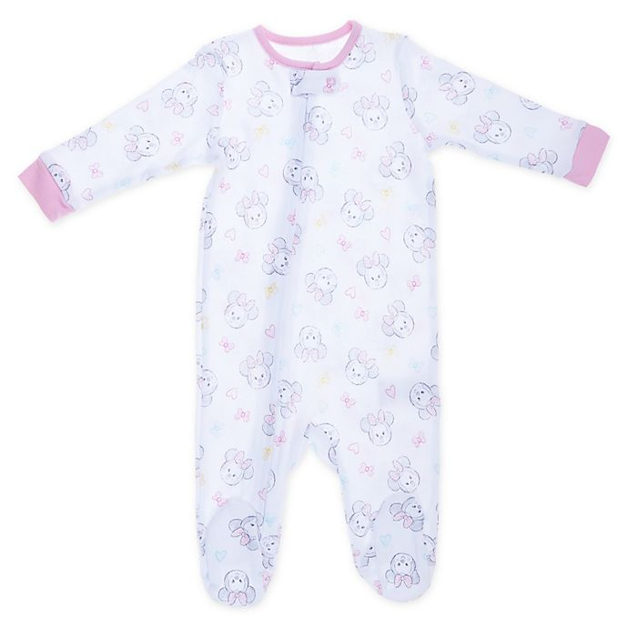 Alternate image 1 for Disney® Minnie Mouse Sleep 'n Play Coverall in White