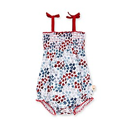 Burt's Bees Baby® Starry Night Sky Smocked Organic Cotton Bodysuit in Cloud