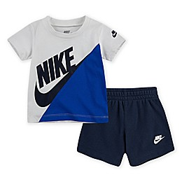 Nike® 2-Piece Amplify Toddler Shirt and Short Set in Blue