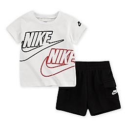Nike® 2-Piece Sportswear Toddler Shirt and Cargo Short Set in Black