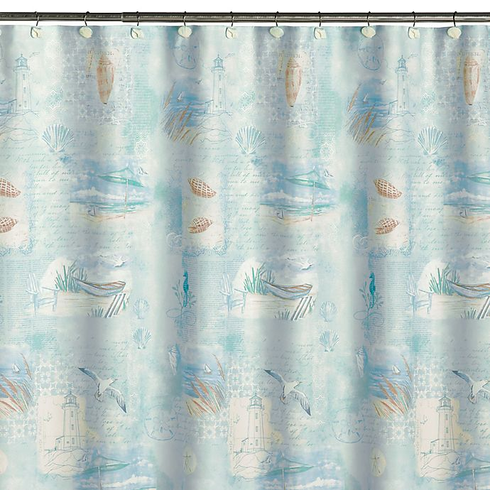 High Tide Fabric Shower Curtain View A Larger Version Of This Product Image