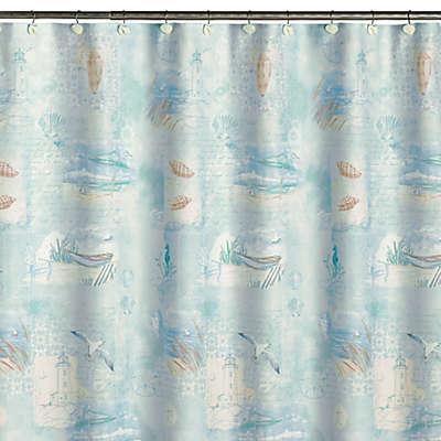 High Tide Fabric Shower Curtain
