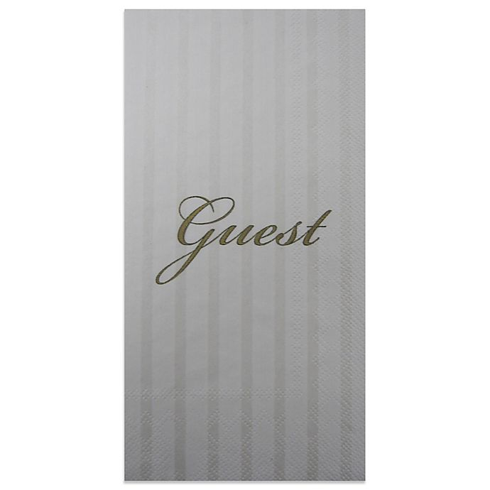 "Paper Guest Towels Bathroom: ""Guest"" 16-Pack Decorative Paper Guest Towels"