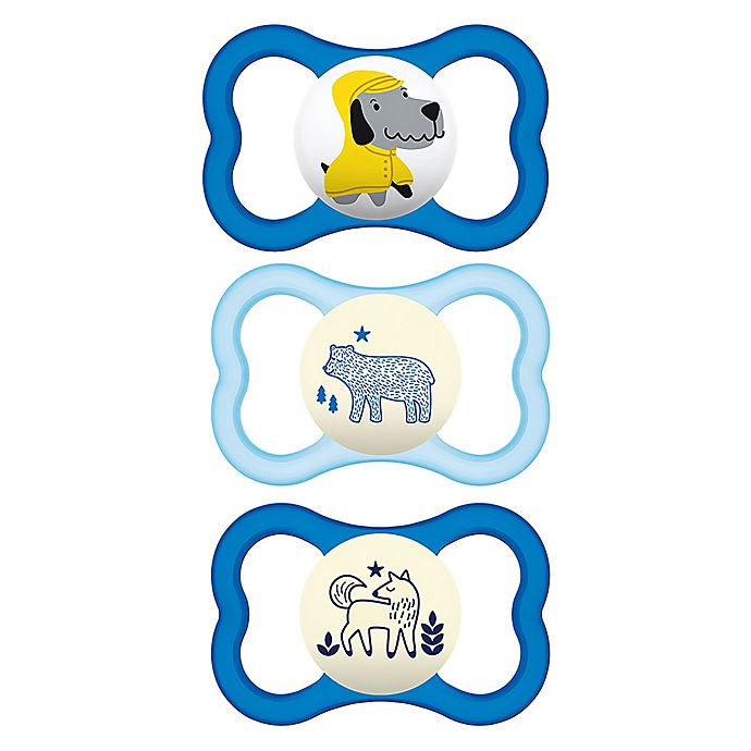 Alternate image 1 for MAM Air Day/Night 16M-36M 3-Pack Pacifiers