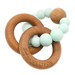 Loulou LOLLIPOP Silicone and Wood Bubble Teething Ring