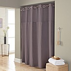 Hookless® Waffle 71-Inch x 74-Inch Fabric Shower Curtain in Dark Grey