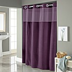 Hookless® Waffle 54-Inch x 80-Inch Stall Fabric Shower Curtain in Purple
