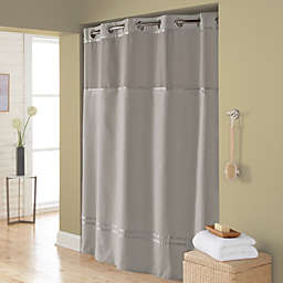 Hookless® Escape 71-Inch x 74-Inch Fabric Shower Curtain and Liner Set in Grey
