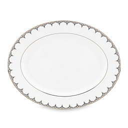 Lenox® Jeweled Saree Platinum 13-Inch Oval Platter