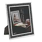 Oleg Cassini 8-Inch x 10-Inch Crystal Hematite Picture Frame