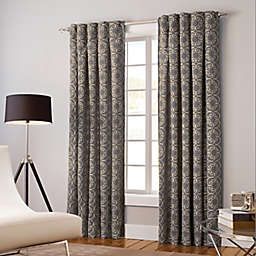Designer's Select Claudia 63-Inch Back Tab Window Curtain Panel in Pewter