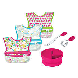 green sprouts® 6-Piece Bibs, Learning Bowl, and Spoons Set