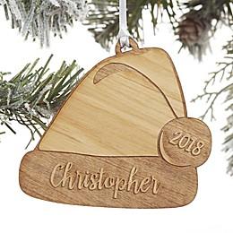 Ho! Ho! Ho! Santa Hat Personalized Ornament