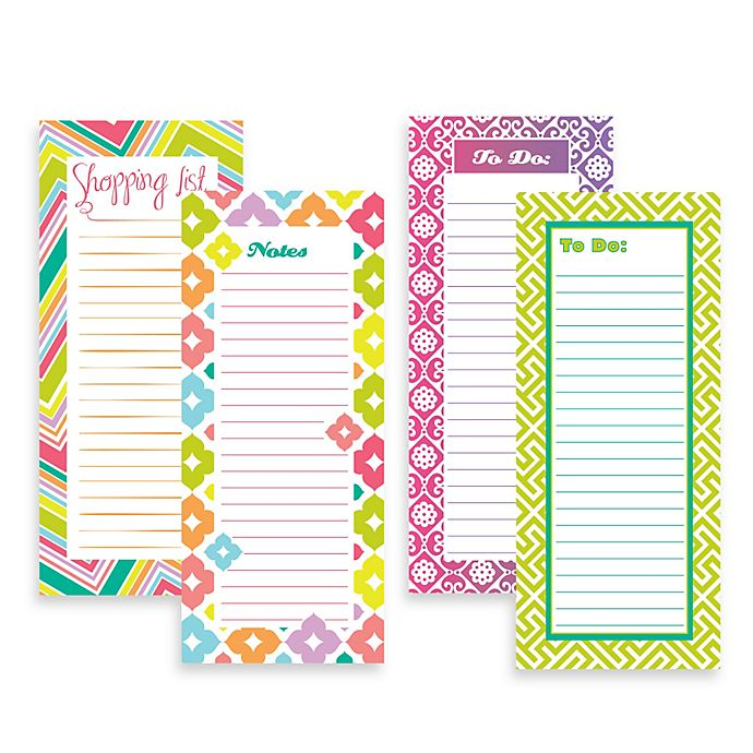 Alternate image 1 for Magnetic Graphic Squares List Pad Set