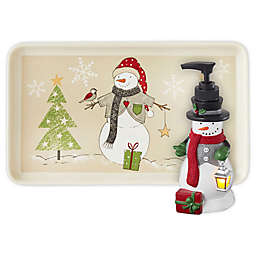 Scenic Snowman Bathroom Accessory Collection