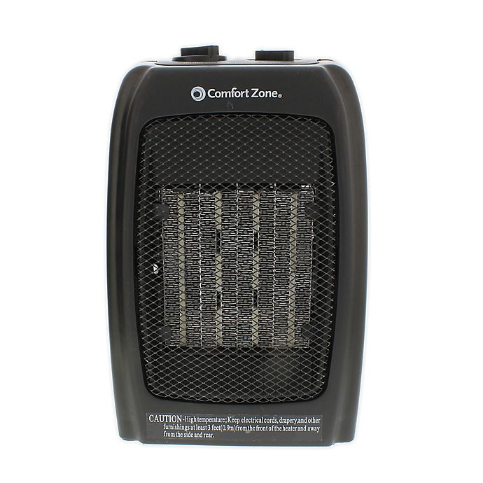 Alternate image 1 for Comfort Zone® Ceramic Portable Heater in Black