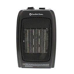 Comfort Zone® Ceramic Portable Heater in Black