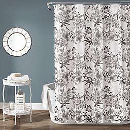 Lush Décor 72-Inch x 72-Inch Botanical Garden Shower Curtain in Grey