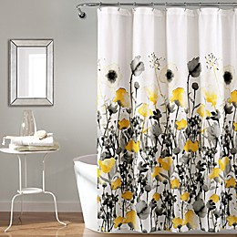 Lush Decor 72-Inch x 72-Inch Zuri Flora Shower Curtain